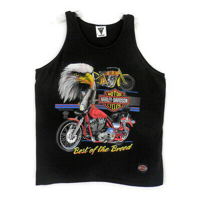 Vintage 1988 Harley Davidson Tank Tee Shirt sz XL Made USA Best of the Breed