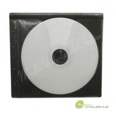 500 Non Woven Cd Dvd Black Color Double Sided Plastic Sleeve - Hold 1000 Discs