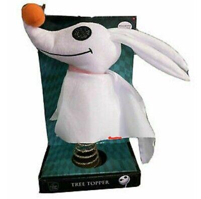 Disney The Nightmare Before Christmas Tree Top Topper Zero Plush Dog Tim Burtons