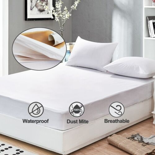 1 X Waterproof Protective King Size Mattress Cover Protector Wetting KWUS