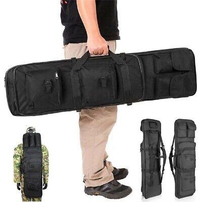 "47"" Long Black 600D Soft Padded Gun Case AR Hunting Bag Rifle Storage Shockproof"