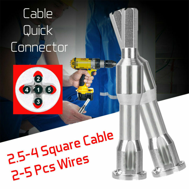 4 And 5 Square Cable Wire Stripping And Twisting Silver Steel Twister Power Tool