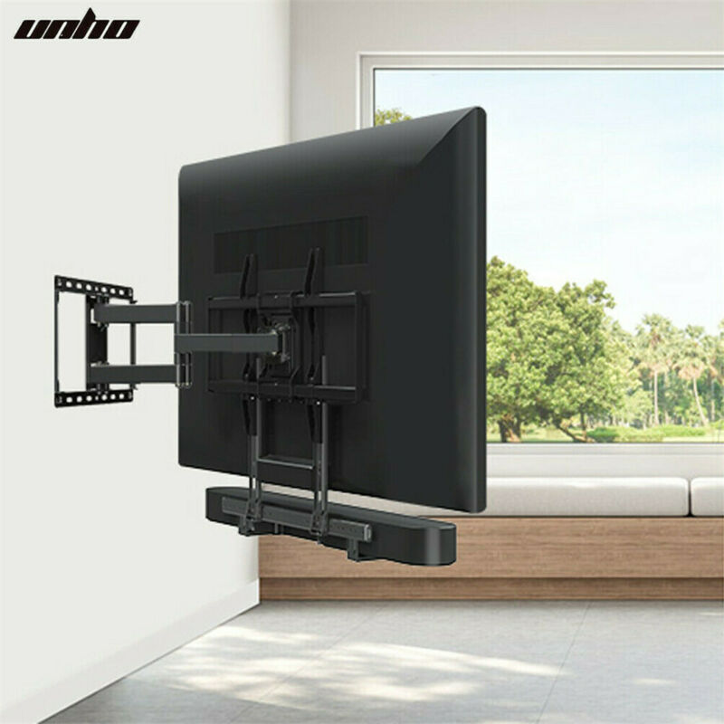 Universal Adjustable Vesa TV Sound Bar Bracket Soundbar Mount Wall Top/ Bottom