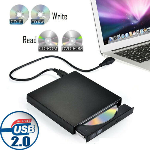 Portable USB 2.0 Ultra Slim External DVD-RW CD-RW Burner Wri