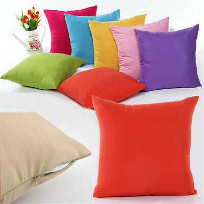 2 Plain Solid Throw Home Pillow Case Waterproof Waist Cushion Covers for Outdoor Outdoor Pillows Cushions