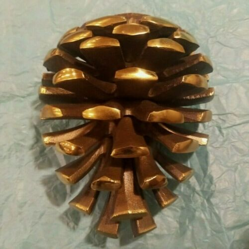 Pinecone Door Knocker by M Michael Healy Brass Pine Cone Christmas New Heavy