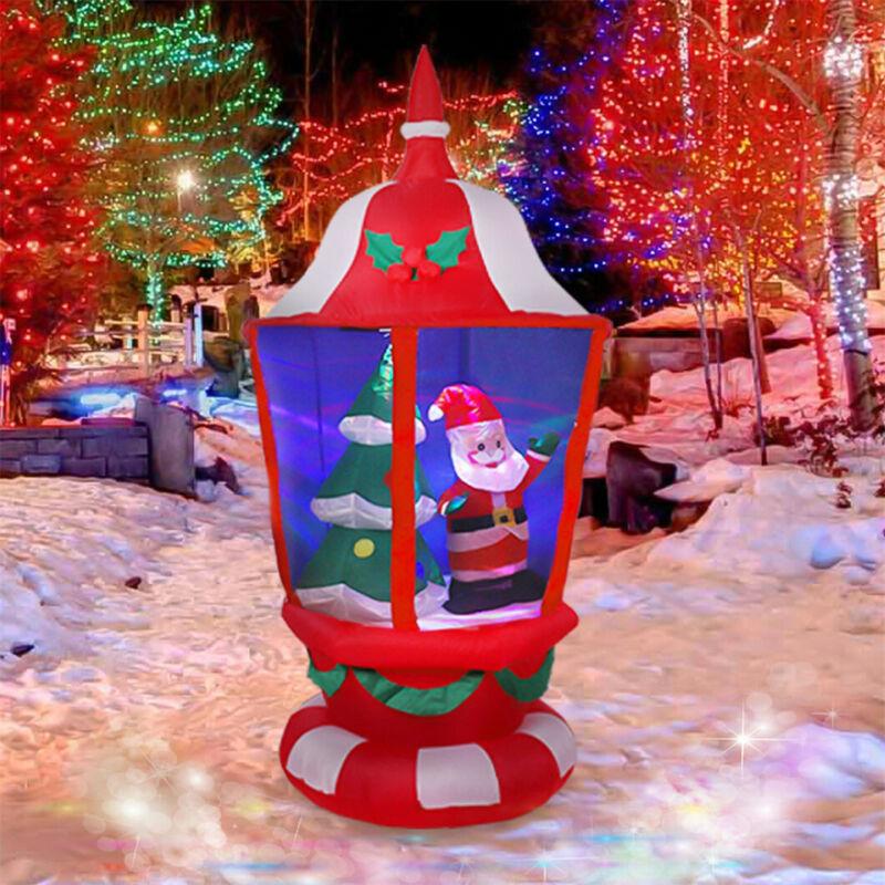 Jumbo 6ft Christmas Inflatable Lantern Swivel Colorful LED Lighting Holiday Deco