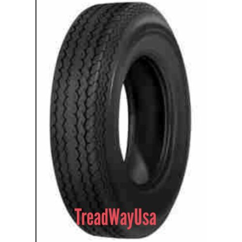 2) 530-12 5.30-12 DEESTONE 6 Ply Load Range C Highway Speed Trailer Tire