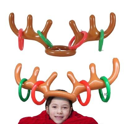 Kids Reindeer Antlers (Party Inflatable Reindeer Antler Toss Game for Xmas Kids Teens Favors)