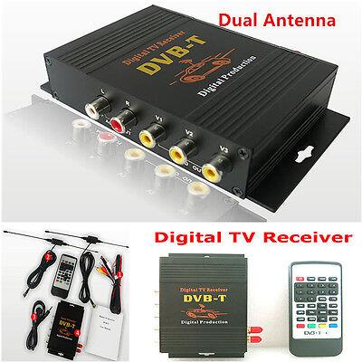 1x HD DVB-T Mpeg2 Mpeg4 Car Mobile Digital TV Receiver Box TV Tuner Dual Antenna