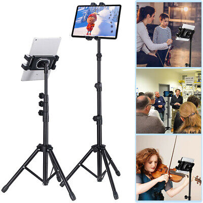 """Super Stable Tripod Floor Tablet Stand Cellphone Holder For 4.7-13"""" Device W Bag"""