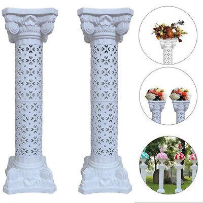 Plastic Roman Columns (2 Sets Disassemblability Plastic Roman Pillars Column Pedestal Wedding Road)