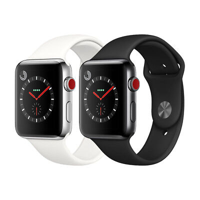 Apple Watch Series 3 Gps   Cellular Stainless Steel 42Mm Case With Sport Band