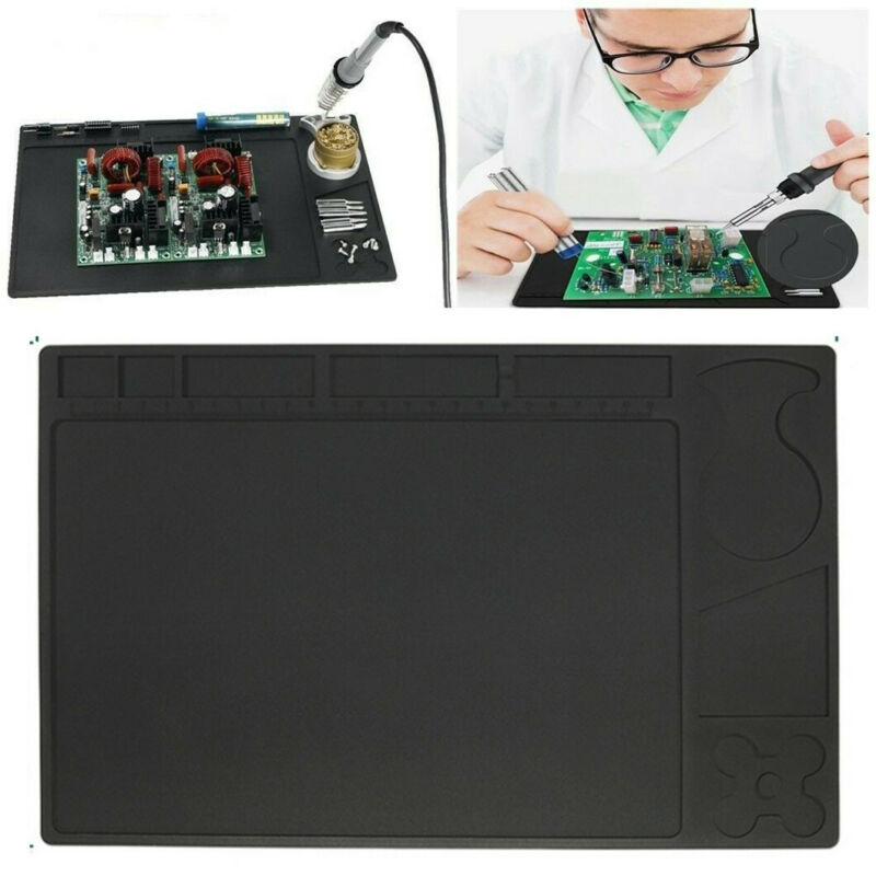 Desktop Anti Static Heat Insulated Silicone Work Pad Mat Phone Soldering Repair