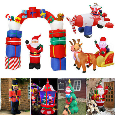 Adorable Large Christmas Inflatable Toys Auto Blown up Santa Claus Arch Solldier ()