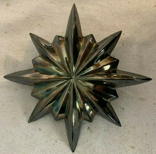 Williamsburg Stieff Silver Plate Christmas Tree Star Topper