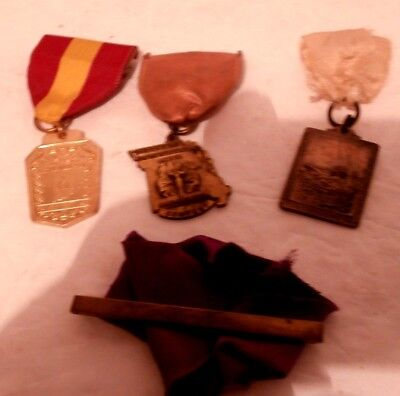 4 Vtg Medals In, Ms Music Medals 1 Men's Free Style , 1 Bar w/ Color Ribbons ](Ms Ribbon Color)