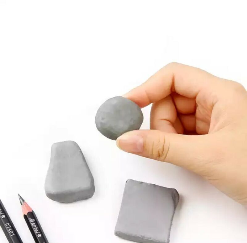 6 Soft Rubber Kneaded Eraser Artist Drawing Tool
