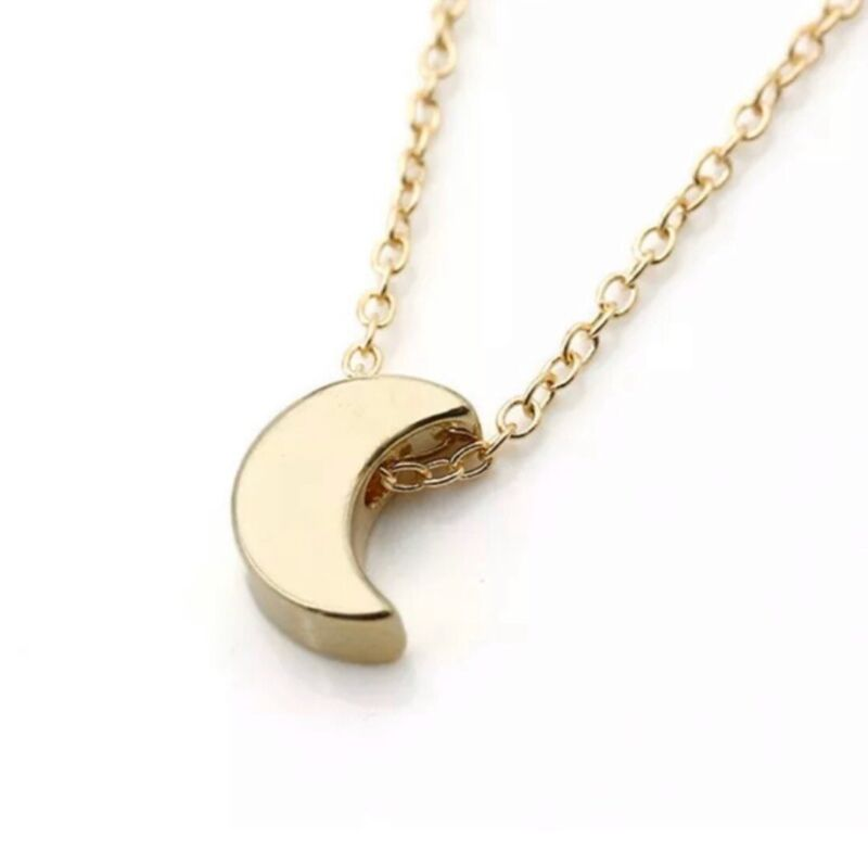 NEW Wholesale Lot Necklaces Crescent Moon Gold Tone Jewelry 24 Pc Pendant
