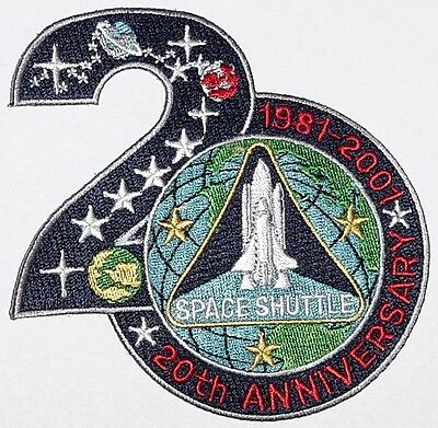Aufnäher Patch Raumfahrt NASA Space Shuttle 20th Anniversary 1981 - 2001 ..A3238