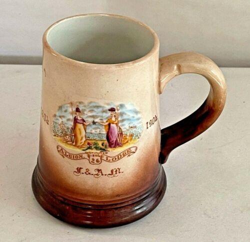 Albion Lodge No. 26 New York Free and Accepted Masons Masonic Mug 1804-1904