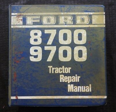 Genuine Ford 8700 9700 Tractor Service Repair Manual Massive Book Very Good