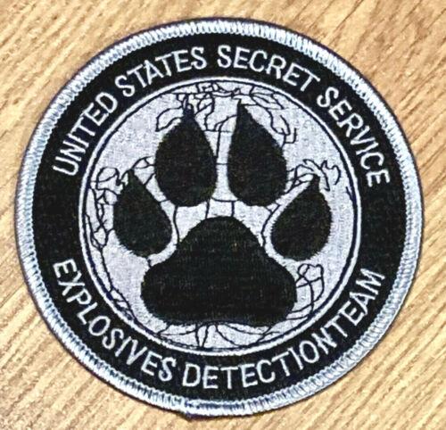 US SECRET SERVICE K-9 EXPLOSIVES DETECTION TEAM POLICE PATCH subdued