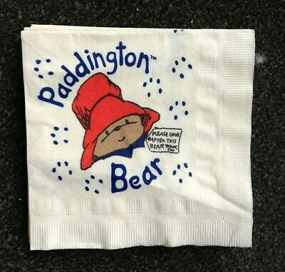 6 Paddington Bear Cocktail Napkins Michael Bond Perfect for Baby - Michaels Baby Shower