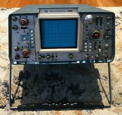 Tested Tektronix 455 Oscilloscope A2 B2 Modules With 2 P6105 Probes Spares