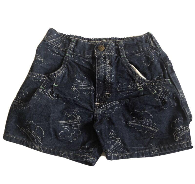 Vintage Oshkosh Sailboat Denim Shorts