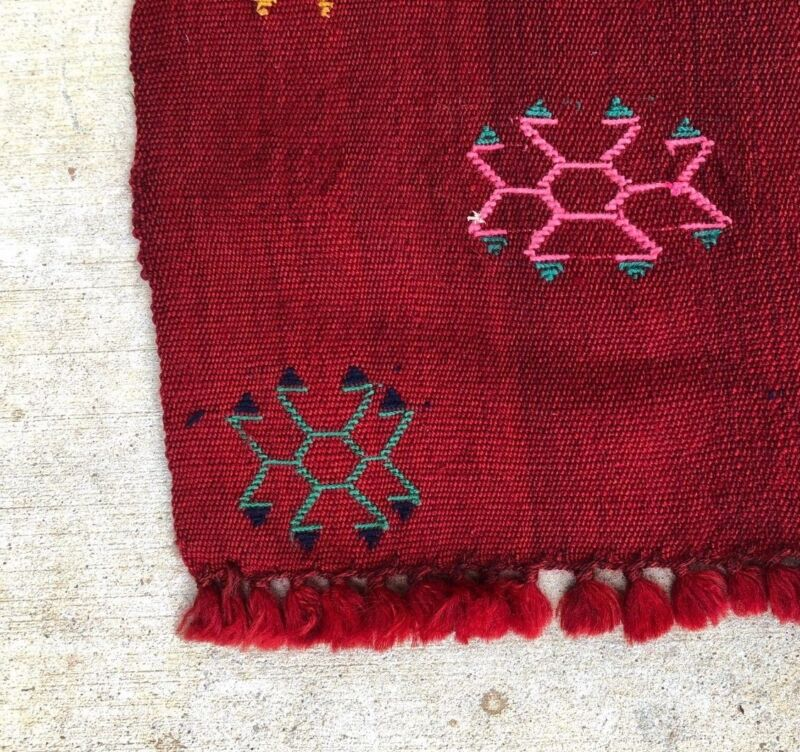 5x8 Vintage Handmade Wool Antique Anatolian Flat Weave Tribal Persian Kilim Rug