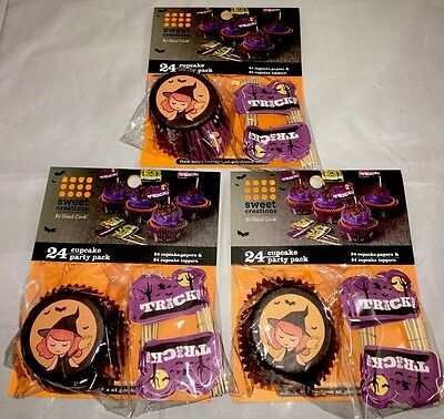 rty Pack - Witch & Trick or Treat Theme 3X24 72 total - NEW (Halloween Party Theme Packs)