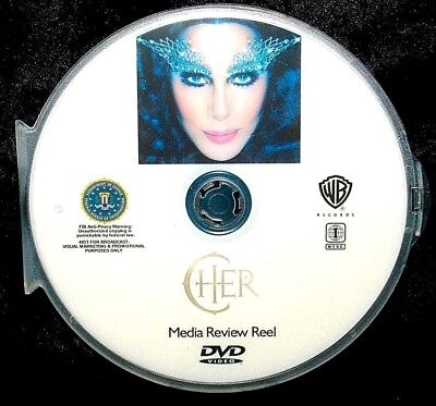 CHER Media Review Reel Music Video Collection DVD 33 Music Videos 1965-2013