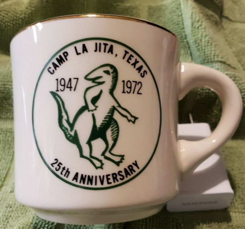 Vintage Boy Scout Coffee Mug Coffee Cup camp La Jita Texas 25th Anniversary