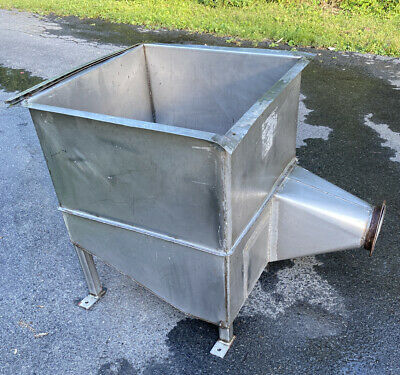 Stainless Steel Powder Receiving Tote Bin With Side Outlet
