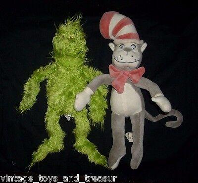 Dr Seuss Spielzeug (30.5cm Paar Dr.Seuss Cat in The Hat & Grinch Plüschtier Spielzeug Puppe Weich)