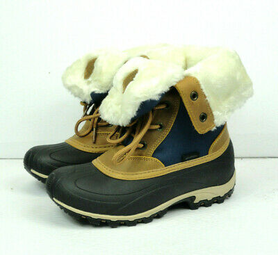 Kamik Women's Harper Navy Marine Waterproof Winter Rain Boots Size 6