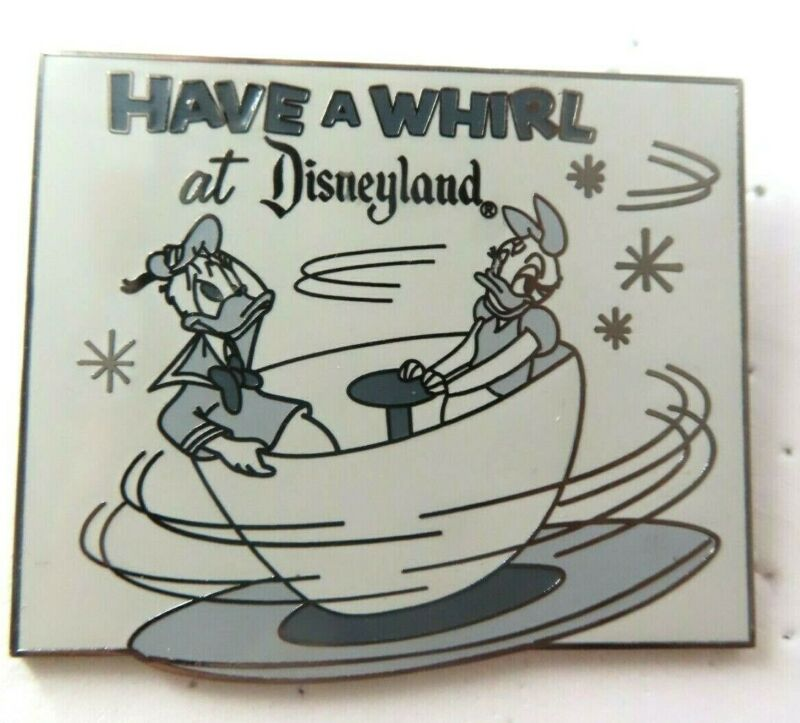 Pin Dateline DLR 1955 Opening Day Newspaper Mad Tea Party LE 755 #76441