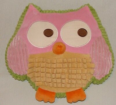 Target Circo Girls Owl Decorative Pillow Pink Tan Orange Green Bedding Toss