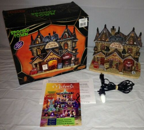 LEMAX Spooky Town Blood of the Vine Lighted Halloween Village House