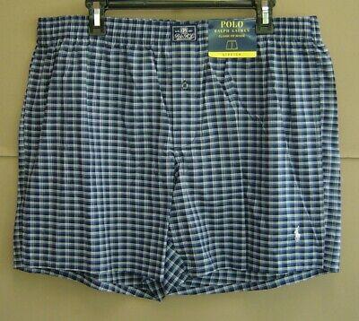 NWT $28 POLO RALPH LAUREN XL 39 42 Boxer Underwear STRETCH CLASSIC-FIT Plaid