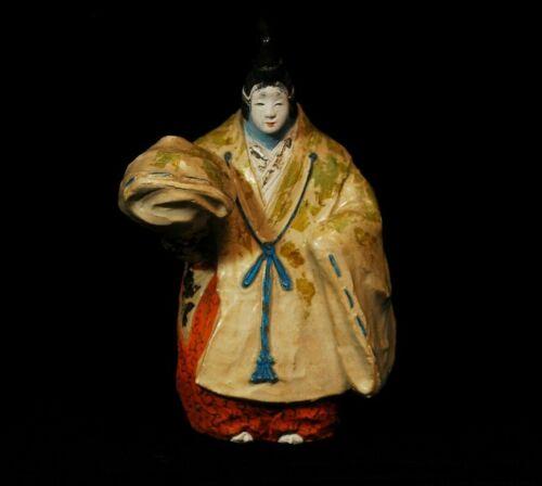 Vintage Japanese Statue Noh Pottery Okimono Figure 26.5cm