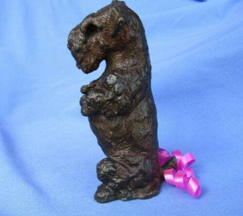 "BRONZE SEALYHAM CESKY TERRIER BALDWIN LE 10/50 4"" OOAK DOG"