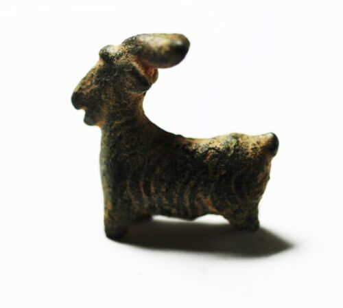 ZURQIEH -As17974-  ANCIENT HOLY LAND. BRONZE GOAT. 600 - 500 B.C