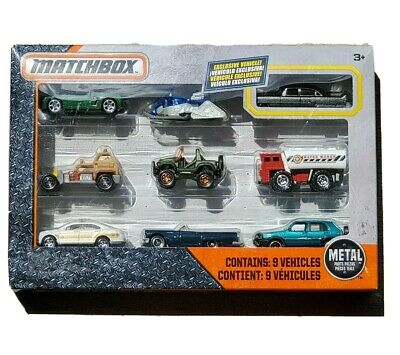 MATCHBOX Set of 9 toy vehicles with exclusive car FREE SHIPPING