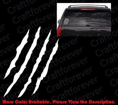Scratch Claw Monster Halloween Car Window/Vinyl Die Cut Decal Sticker FY051 ()
