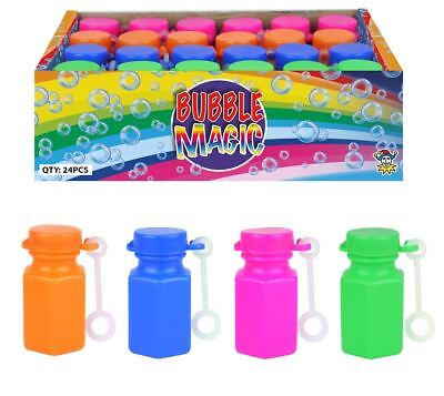 15ml Mini Bubble Tubs With Wand Solution Kids Childrens Party Bag Filler Toy