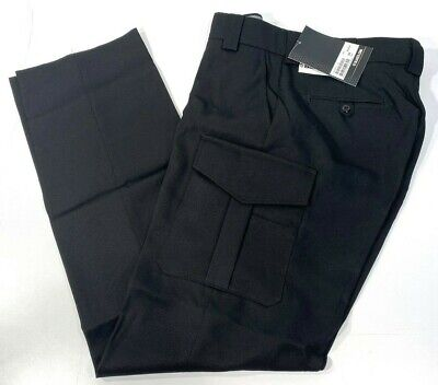 NEW MENS BLAUER 8655 SIDE POCKET POLYESTER PANTS BLACK 35x35 UNHEMMED