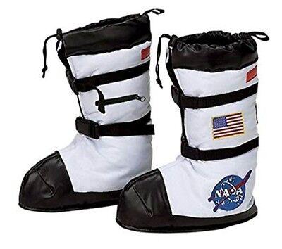 Nasa Astronaut Stiefel Weiß USA Kostüm Fach Schuhe ABDECKUNG S=7