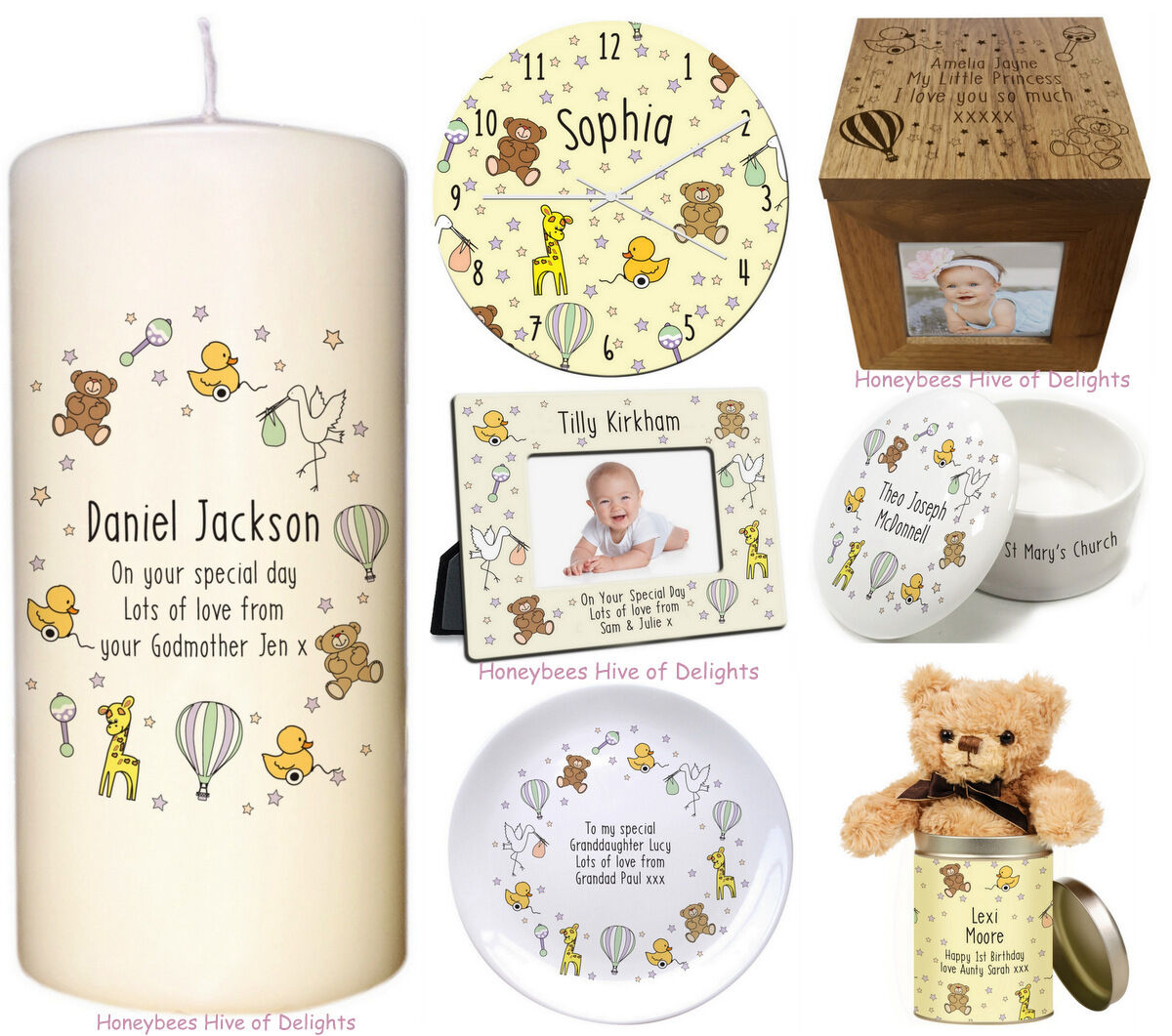 PERSONALISED GIFT Idea For New Born BABY Christening 1st  BI